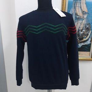 GUCCI Men Dark Blue Breast Processing Sweater